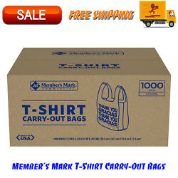 Members Mark T-Shirt Carry-Out Bags 1000 ct. Thank You Message  $21.85