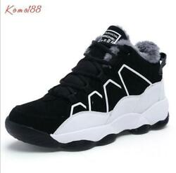 new Mens warm fur lined lace up Ankle Boots Casual cotton Sports Running Shoes $63.30