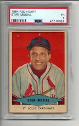 STAN MUSIAL 1954 RED HEART ST. LOUIS CARDINALS GRADED PSA 1