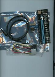 6 Pack PCIe 4 Pin MOLEX PCI E 16x to 1x Powered Riser Adapter Card US Shipping $29.95