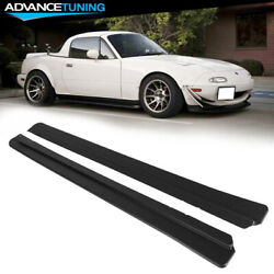 Fits 90-97 Mazda Miata FD Style Rocker Panel Side Skirts Extensions Pair - PP $104.85