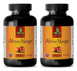 Two Bottles African Mango Extract Lean Belly Fat Burner Weight Loss 120 Pills $30.93