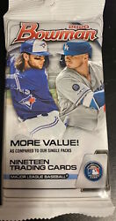 2020 Bowman Baseball 19 Cards Sealed Hanger Fat Pack Dominguez Quick Shipper $8.54