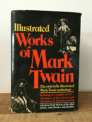 Illustrated Works Of Mark Twain 1979 Black Hardcover Two  Novels In One