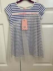 NWT $75 Billieblush Designer Girls Tulle Summer Dress Stripes Size 6