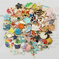 20pcs pack Enamel Mixed Random Send Alloy Pendant Charms Jewelry DIY Accessories $3.75