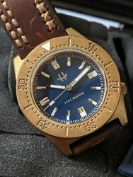 Helberg CH8 Bronze Dive Watch - Blue Dial 43MM Automatic (2) Straps Full Set $699.99