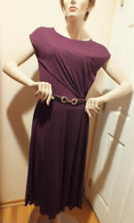 NWT AUTH GUCCI BURGUNDY COCKTAIL DRESS with HORSEBIT BELT size 4 $299.00