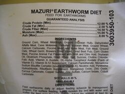 Worm Chow Fresh Product 6 Lb. Free Shipping Earthworm Food $17.49