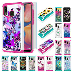 For Samsung Galaxy A10e A20 A30 A50 Hybrid PC Hard Shockproof Phone Case Cover $10.99