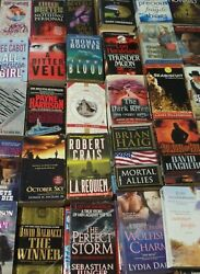 Lot of 20 Fiction ThrillerMysteryRomance Paperbacks Books MIX Random Unsorted
