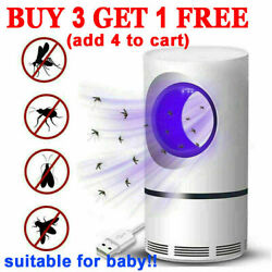 Electric Mosquito Killer Lamp Fly Bug Insect Zapper Trap LED Light Indoor Safe $14.05