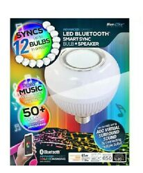 Blue Sky Color Changing Bulb w Built In Bluetooth Speaker surround sound. $19.99