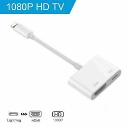 Lot Lightning To HDMI Digital AV TV Cable Adapter For iPhone 6 7 8 X XR 11 iPad $11.49