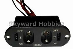 HEAVY DUTY DUAL POWER SWITCH for RC Planes $19.99
