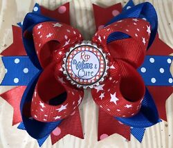 4th Of July Red White Star Large Boutique Double Layered Hair Bow $5.95