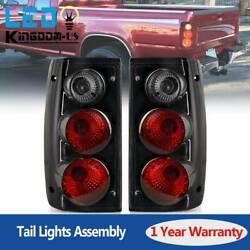 Halogen Tail Lights for 1989-1995 Toyota Pickup Black Smoke Rear Lamps Pair L+R $39.88