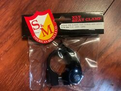 S&M BIKES 28.6 QUICK RELEASE SEAT POST CLAMP BLACK 25.4 25.4MM MM 1