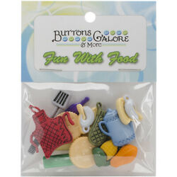 Buttons Galore Button Theme Pack Kitchen for Sewing Quilting Décor Art $6.61