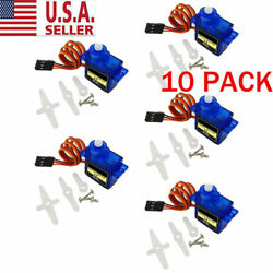 10PC For RC Robot Helicopter Airplane Aircraf Car Boat 9G SG90 Micro Servo Motor $14.05