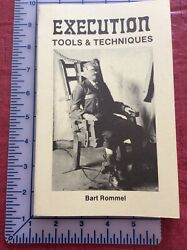 Execution Tools & Techniques 1990 SC Bart Rommel AS NEW Loompanics Unlimited $13.95