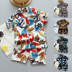 Toddler Baby Kids Boys Summer Casual Outfit Print T-Shirt Tops+Shorts Clothes $7.58