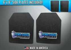 AR500 Level III 3 Body Armor Plates Pair - Curved 11x14 w Side Plates $169.95