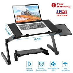 360°Adjustable Folding Laptop Cooling Desk Table Sofa Bed Notebook Stand Tray $23.48