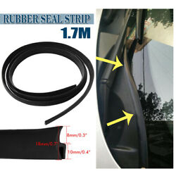 1.7m Rubber Seal Strip Car Front Windshield Panel Edge Trim Protector T-Shape US $6.99