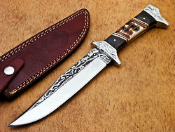 HAND FORGED STAINLESS STEEL HUNTING KNIFE-CAMEL BONE HANDLE-MP-7028 $16.99