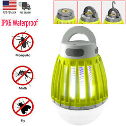 Electric Bug Zapper Lamp Mosquito Killer Insect Fly Light Bulb USB Rechargeable $20.99