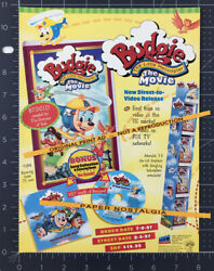 BUDGIE The Little Helicopter: The Movie Orig. 1997 Trade print AD video promo $14.99