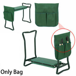 Foldable Garden Kneeler Seat Tool Bag Outdoor Work Portable Cart Storage Pouch $7.60