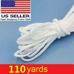 110 yards Round Elastic Cord Band String For DIY Face Mask Trim Ear Hanging Tape $13.59