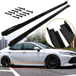 2X Gloss Black Side Body Skirts Extensions For 2018 2019 2020 Toyota Camry 18 19 $176.78
