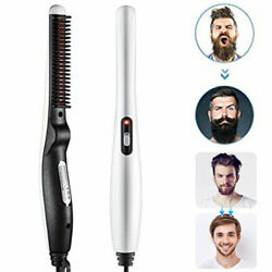 Professional Comb Hair Beard Men Straightener Quick Curling Heated Brush Gifts $13.99