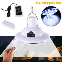 NEW LED Outdoor Indoor Solar Lamp Hooking Camp Garden Lighting W Remote Control