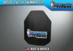 AR500 Level III 3 Body Armor Plate - Curved Swimmer Cut 10 x 12 $69.95