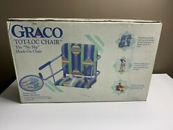 GRACO TOT LOC CHAIR Vintage Lock On Table Highchair NEW *RARE* Sorbet Pattern $199.99