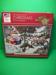 1995 ~ The Twelve Days of Christmas ~ 1000+ pc Puzzle Great American Puzzle $11.99