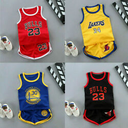 Summer Kids Baby Boys Basketball Clothes Child Boy Sports Outfits Clothes Sets $8.59