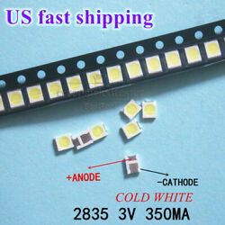 100pcs 3528 2835 3V Lamp Beads 350mA for LED TV Backlight Strip Repair $11.86
