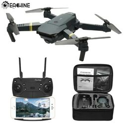 Eachine WIFI FPV With Wide Angle HD 720P Camera Foldable Arm RC Quadcopter Drone $50.99