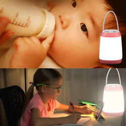 Night Light 3 Modes Bedside USB Rechargeable Dimmable Light for Nursery Camping $13.59