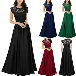 Women Wedding Bridesmaid Formal Maxi Dress Party Cocktail Ball Gown Long Dress