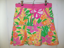 Lilly Pulitzer Tropical Print Cotton Pique Skirt size Small Beach Floral $22.54