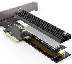 Inateck M.2 PCIe Adapter PCIe x4 to M.2 SSD NVMe Card Bracket with Heatsink $9.91