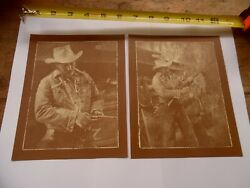 R. Hendrickson SEPIA PRINTS Lot of  2: Cowboy Loading Guns ART