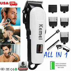Professional Men Electric LCD Hair Clipper Trimmer Haircut Machine Barber Shaver $29.99