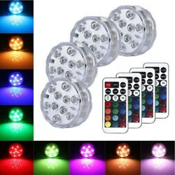 Submersible LED Lights RGB Multi Color Changing Waterproof Lamp amp; Remote Control